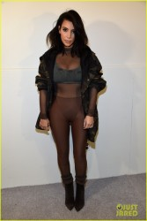 Kim Kardashian - Kanye West X Adidas Fall 2015 Fashion Show in NYC 2/12/15