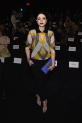 Michelle Trachtenberg - Naeem Khan Fall 2015 Fashion Show in NYC 2/17/15