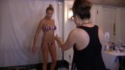 Erin Heatherton, Genevieve Morton, Hailey Clauson and Rose Bertram On Set Body Painting on Saint John, Sports Illustrated Swimsuit 2015