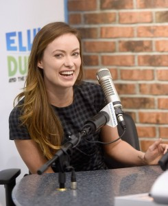 Olivia Wilde visiting the Elvis Durand Radio Show on New York City on February 26, 2015