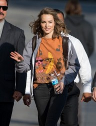 Bridgit Mendler arrives to Jimmy Kimmel Live 3/3/2015 x16