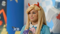 "Olivia Holt dressed as ""Star Butterfly"""