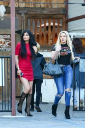 Kylie Jenner leggy leaving a restaurant in Calabasas on 3/28/2015 x26