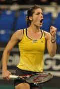 Andrea Petkovic Open Gaz de France WTA tennis tournament in Paris, France - February 2010 x5