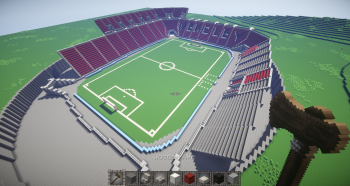 Wip wembley stadium creative mode minecraft java edition added the first tier top corner section and started the lettering also marked out where the player tunnel sits sciox Gallery